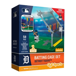 Detroit Tigers MLB Batting Cage Building Block Set