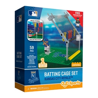 Kansas City Royals MLB Batting Cage Building Block Set