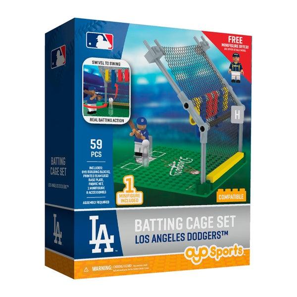 Los Angeles Dodgers MLB Batting Cage Building Block Set