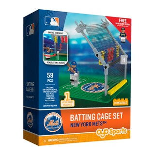 New York Mets MLB Batting Cage Building Block Set