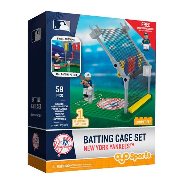 New York Yankees MLB Batting Cage Building Block Set