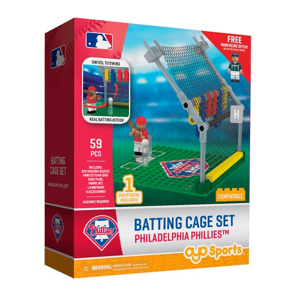 Philadelphia Phillies MLB Batting Cage Building Set