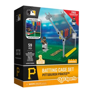 Pittsburgh Pirates MLB Batting Cage Building Block Set (Option: Pittsburgh Pirates)