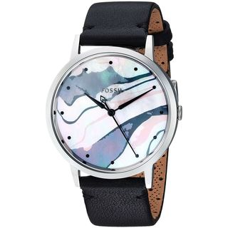 Fossil Women's ES4211 'Vintage Muse' Southwest Desert Black Leather Watch