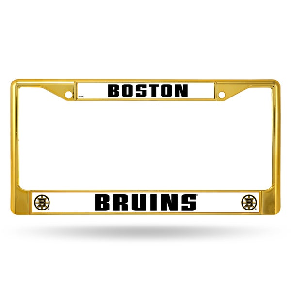 Boston Bruins NHL Gold Color License Plate Frame