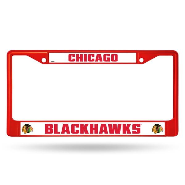 Chicago Blackhawks NHL Red Color License Plate Frame