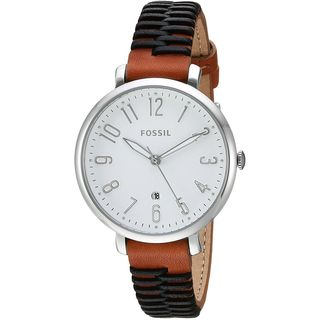 Fossil Women's ES4208 'Jacqueline' Brown and Black Leather Watch
