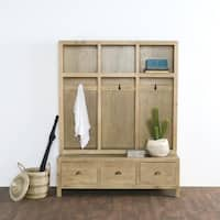 Sierra Hand Crafted Taupe Entryway Storage Bench by Kosas Home