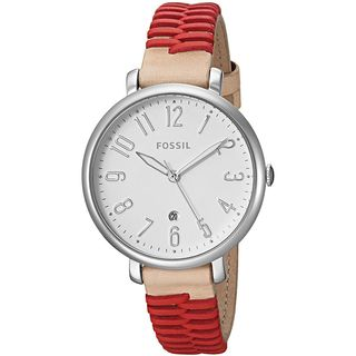 Fossil Women's ES4204 'Jacqueline' Brown and Red Leather Watch