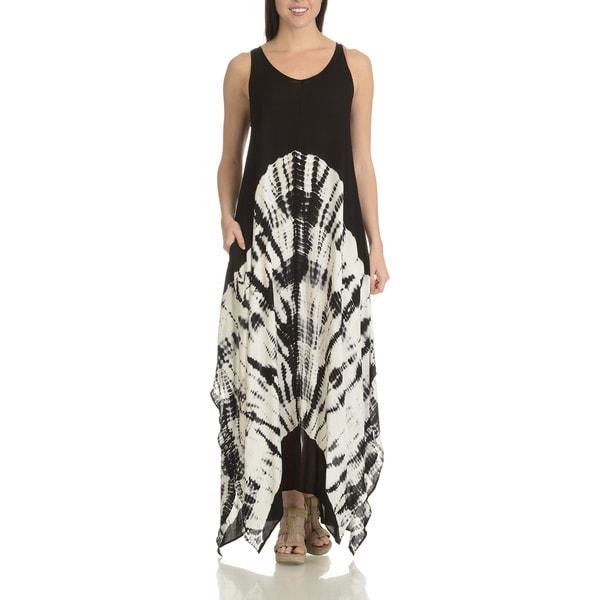 Shop Chelsea Theodore Women S Tie Dye Rayon Uneven Hem Maxi Dress