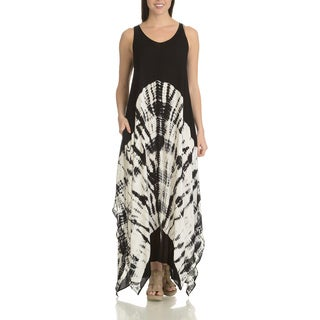 Chelsea & Theodore Women's Tie-dye Rayon Uneven-hem Maxi Dress (2 options available)