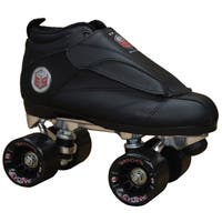 Epic Skates Solid Black Evolution Quad Roller Jam Speed Skates