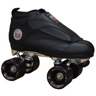 Epic Skates Solid Black Evolution Quad Roller Jam Speed Skates (More options available)