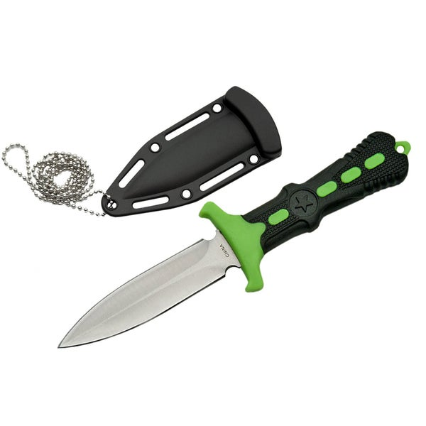 "Exclusive 6.5"" Zom-B Stainless Steel Blade Neck Knife 211124"