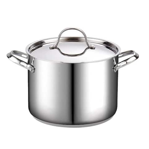Cooks Standard 8 Quart Classic Stainless Steel Stockpot with Lid