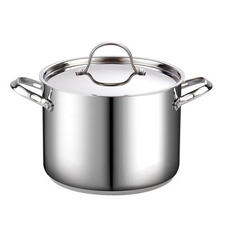 Cooks Standard Classic 8 Quart Stainless Steel Stockpot with Lid