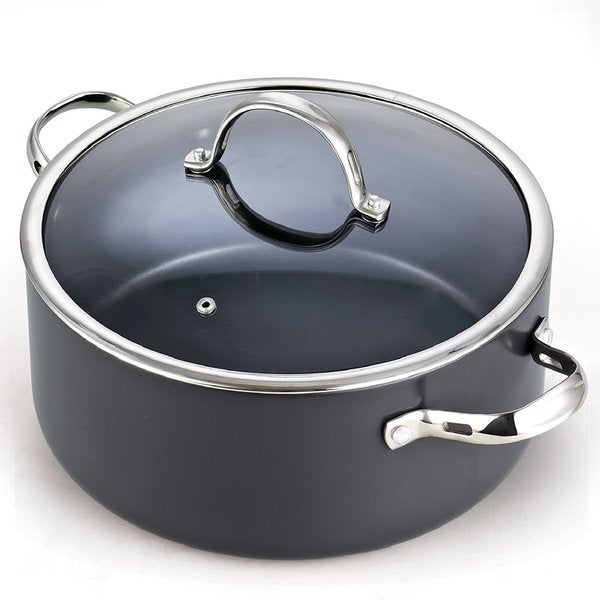 Cooks Standard 7 Quart Hard Anodized Nonstick Dutch Oven Casserole Stockpot with Lid, Black. Opens flyout.