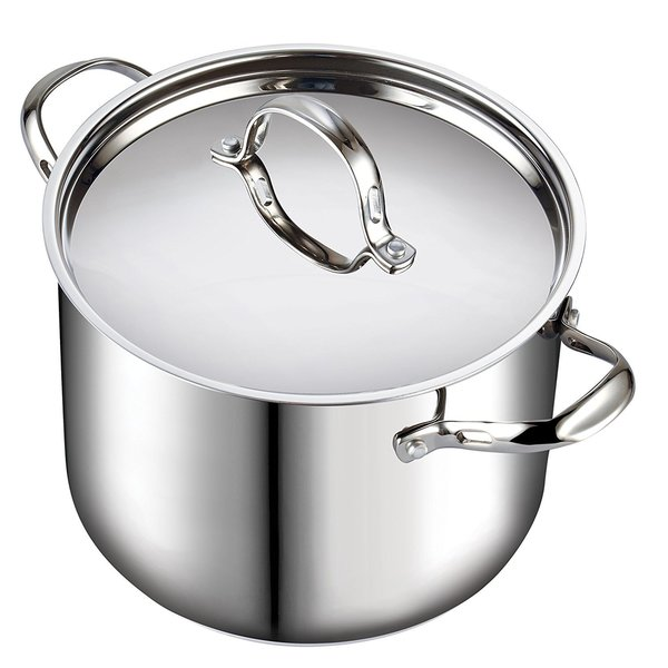 Cooks Standard 12 Quart Classic Stainless Steel Stockpot with Lid. Opens flyout.