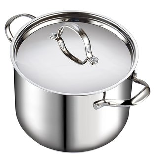 Cooks Standard Classic 12 Quart Stainless Steel Stockpot with Lid