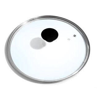 Cook N Home 12-Inch/30cm Tempered Glass Lid, Large, Clear