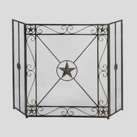 Taxes Lone Star Traditional Fireplace Screen