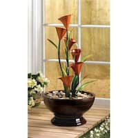 Blooming Lilies Water Flowing Centerpiece