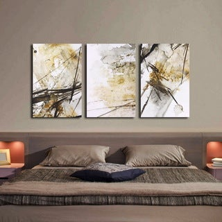 'Big World' 3-piece Gallery-wrapped Print on Canvas Art Set