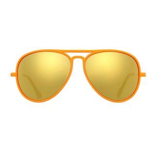 Deep Lifestyles Orange Bang Unisex Men Women Lightweight Aviator Sunset Sunglasses