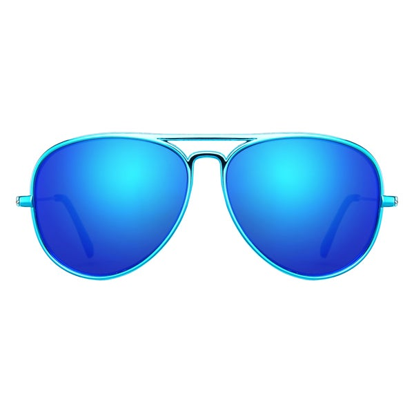 8f367f5368b Deep Lifestyles Metallic Aqua Unisex Men Women Lightweight Aviator Sunset  Sunglasses