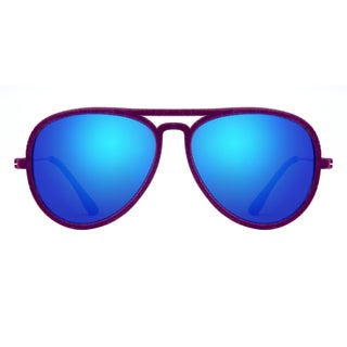 Deep Lifestyles Velvet Purple Unisex Men Women Lightweight Aviator Sunset Sunglasses