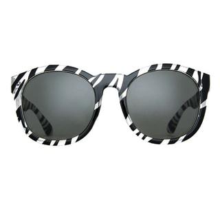 Deep Lifestyles Zebra Unisex Men Women Stylish Round Framed La Jolla Sunglasses