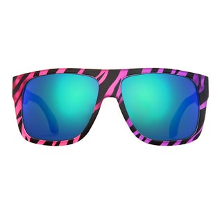 Deep Lifestyles Tropical Zebra Unisex Men Women Oversized Square Framed Zuma Sunglasses