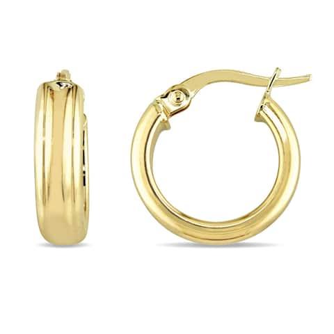 Miadora 10k Yellow Gold Solid Hoop Earrings