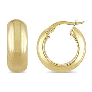 Miadora 10k Yellow Gold Thick and Solid Hoop Earrings