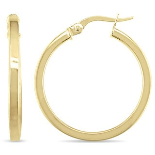 Miadora 10k Yellow Gold Thin and Round Hoop Earrings