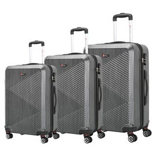 Brio Luggage PET Ridged 3-piece Hardside Spinner Luggage Set
