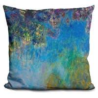 Claude Monet 'Wisteria' Throw Pillow