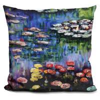 Claude Monet 'Water Lillies' Throw Pillow