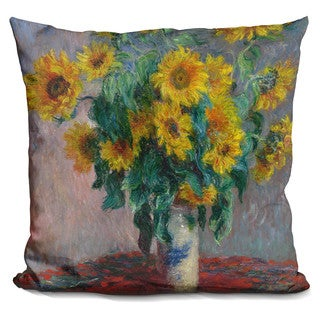 Claude Monet 'Sunflowers' Throw Pillow