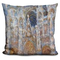 Claude Monet 'Rouen Cathedral' Throw Pillow