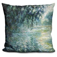 Claude Monet 'Morning on the Seine' Multicolored Throw Pillow