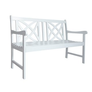 Bradley Outdoor Wood Garden 4-foot Bench