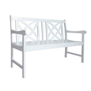 Buy White Outdoor Benches Online At Overstock Our Best Patio
