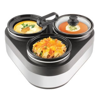 Granite 1L Triple Slow Cooker