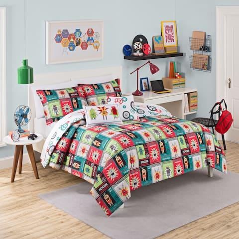 Waverly Kids Robotic Reversible 3-piece Comforter Set