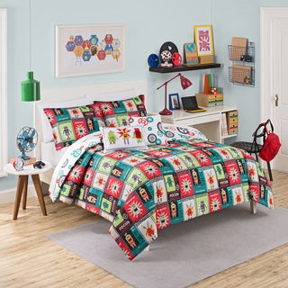 Waverly Kids Robotic Reversible 3-piece Comforter Set