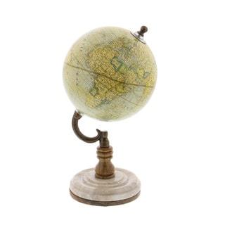 Old World Pu Wood Metal World Globe