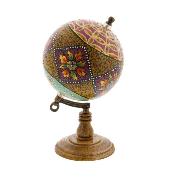 Multicolored Polyurethane Wood Marble Globe