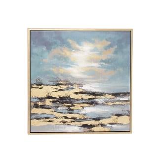 Benzara Multicolored Abstract Framed Canvas Art