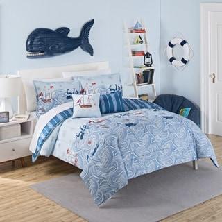 waverly kids ride the waves reversible 3piece comforter set - Waverly Bedding